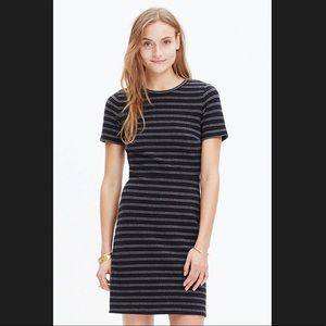 Madewell Black/White Stripes Fit&Flare Dress